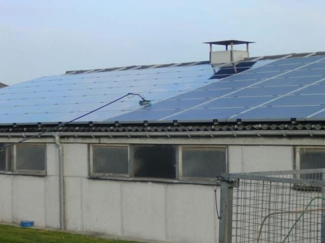 reinigen zonnepannelen