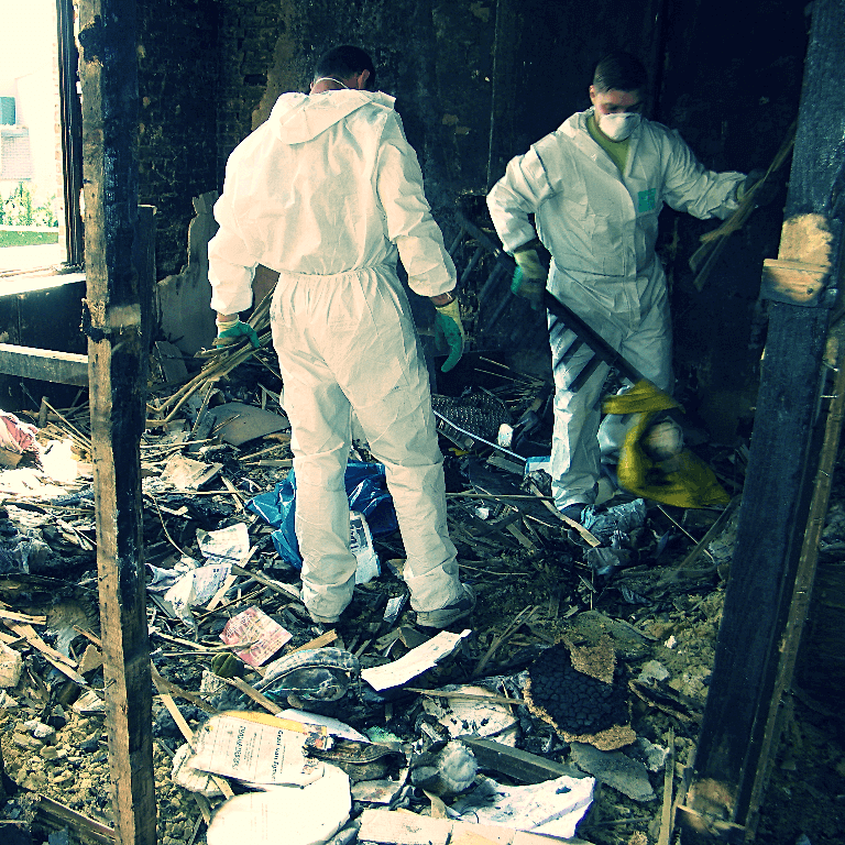 schoonmaak brand opkuis
